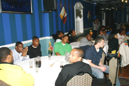 A partial view of the many young people who attended the dinner